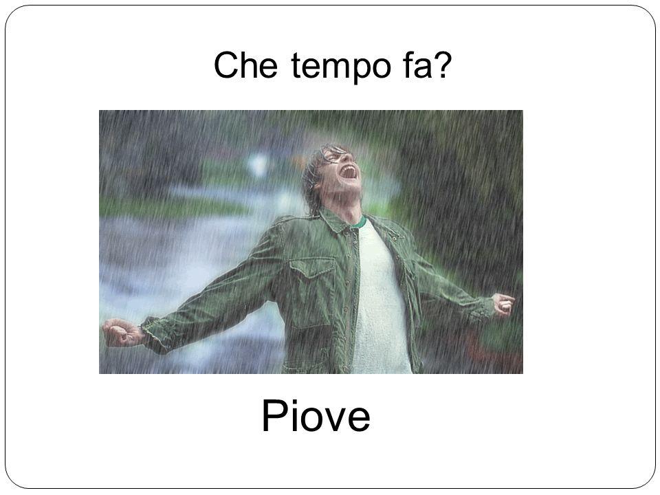 Che tempo fa Piove