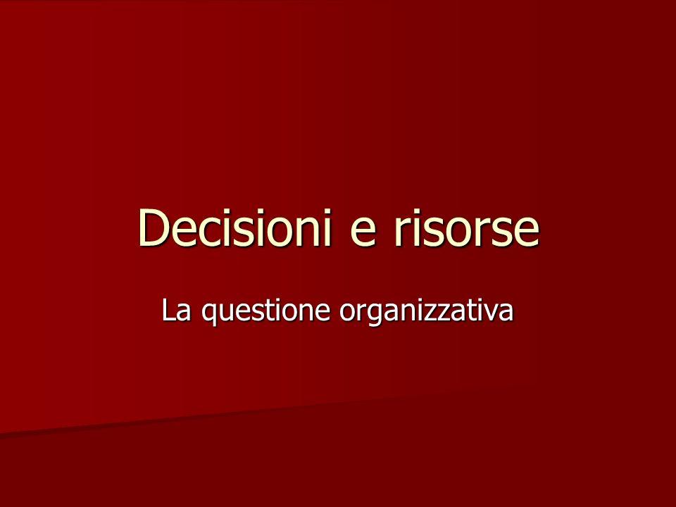 La questione organizzativa