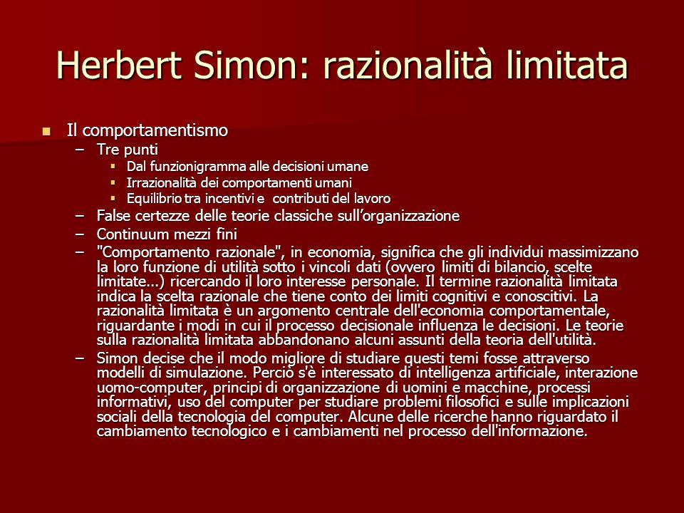 Herbert Simon: razionalità limitata