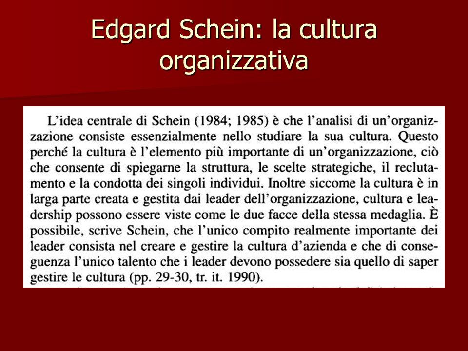 Edgard Schein: la cultura organizzativa