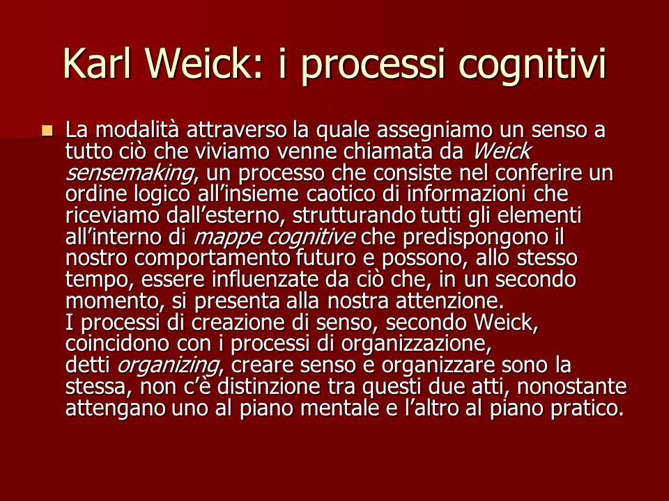 Karl Weick: i processi cognitivi