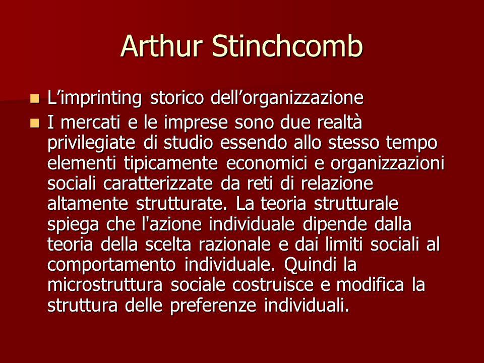 Arthur Stinchcomb L'imprinting storico dell'organizzazione