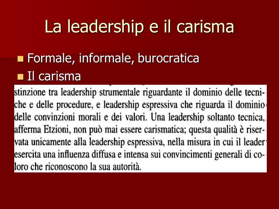 La leadership e il carisma