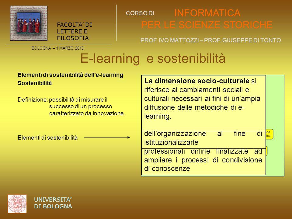 E-learning e sostenibilità