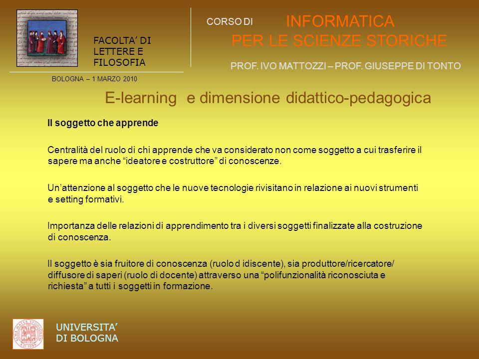 E-learning e dimensione didattico-pedagogica