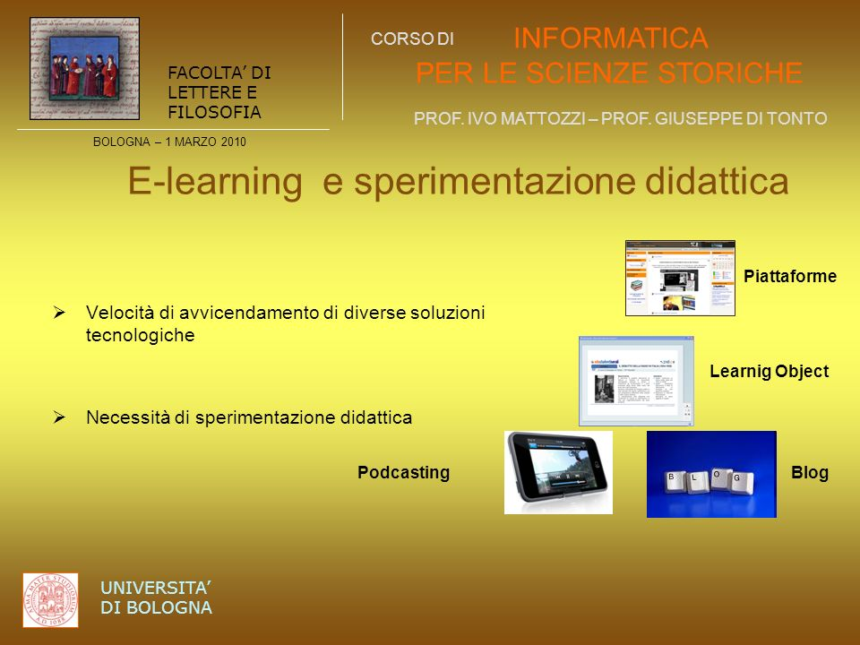 E-learning e sperimentazione didattica