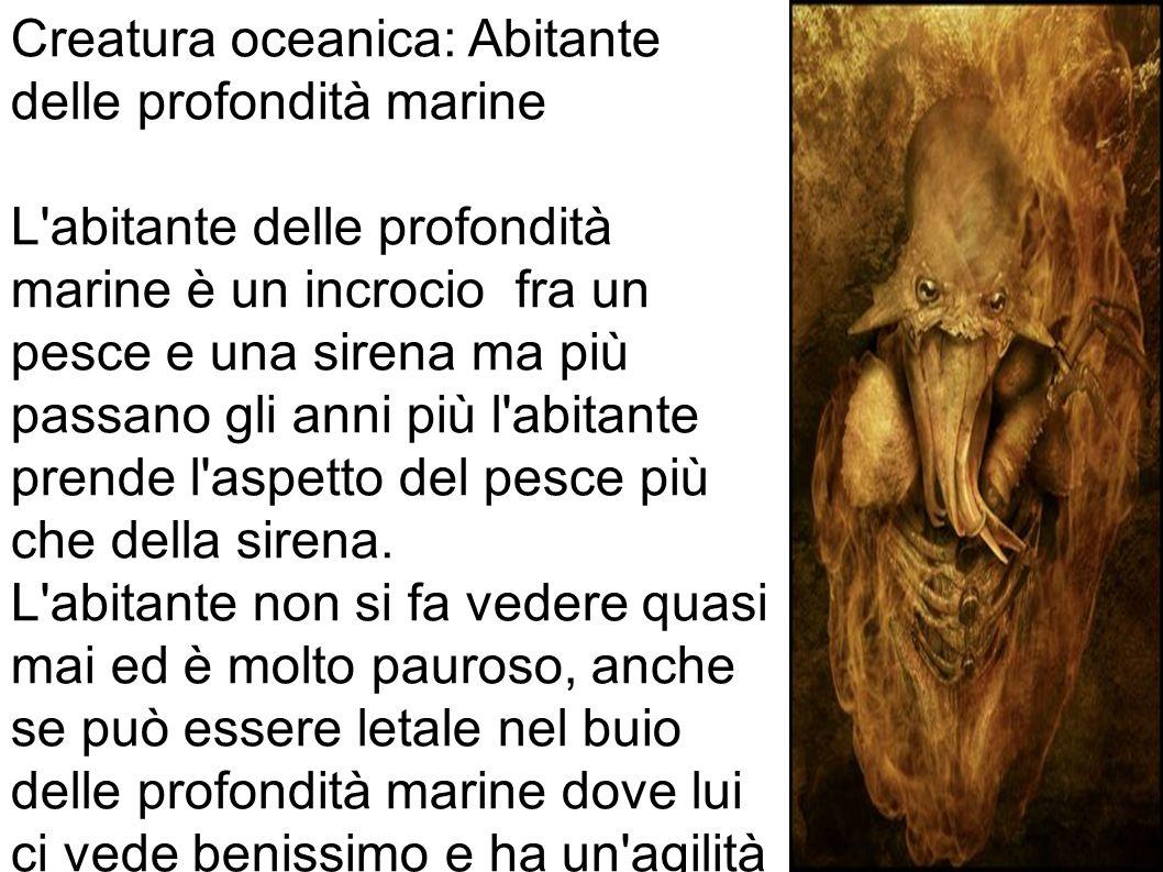 Creatura oceanica: Abitante delle profondità marine