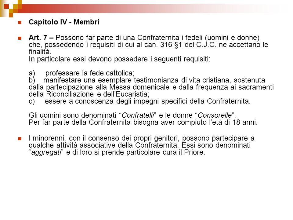 Capitolo IV - Membri
