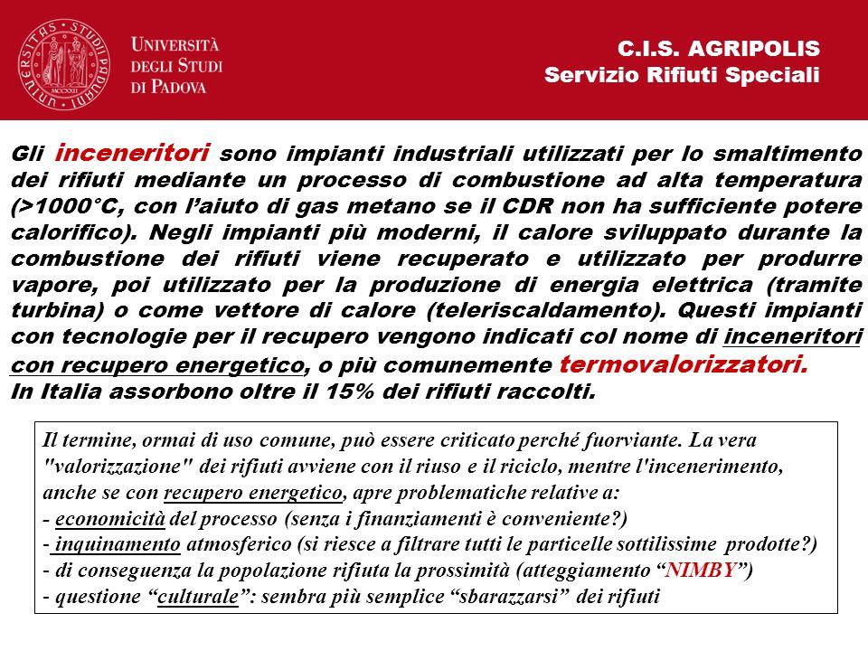 C.I.S. AGRIPOLIS Servizio Rifiuti Speciali.