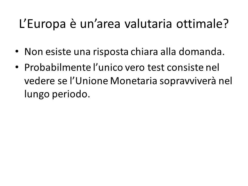 L'Europa è un'area valutaria ottimale