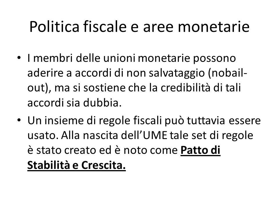 Politica fiscale e aree monetarie