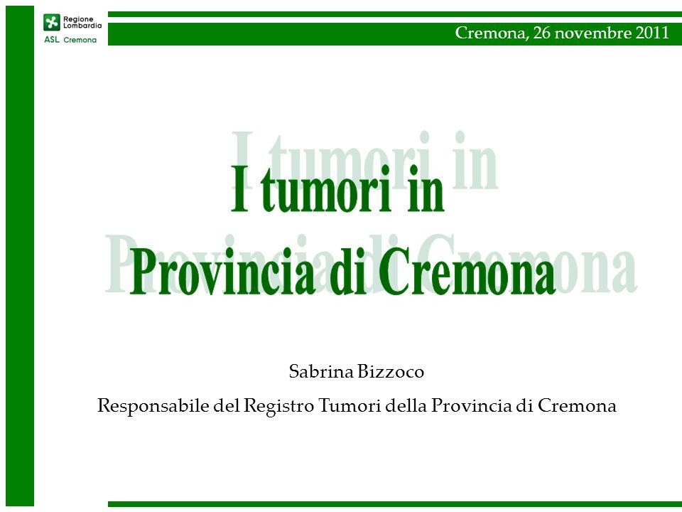 Responsabile del Registro Tumori della Provincia di Cremona