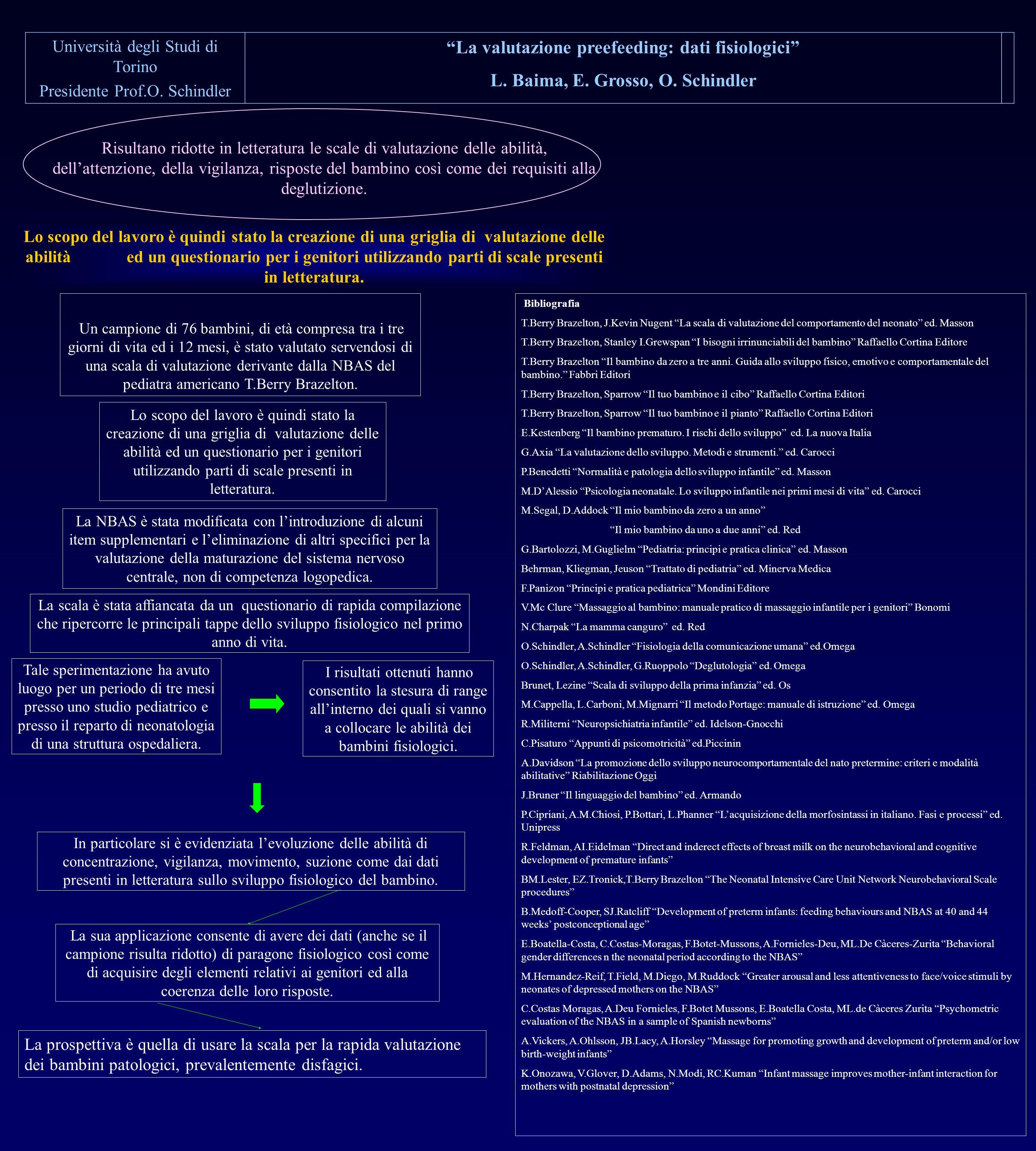 La valutazione preefeeding: dati fisiologici