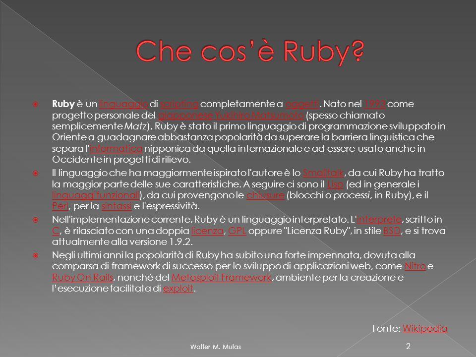 Che cos'è Ruby