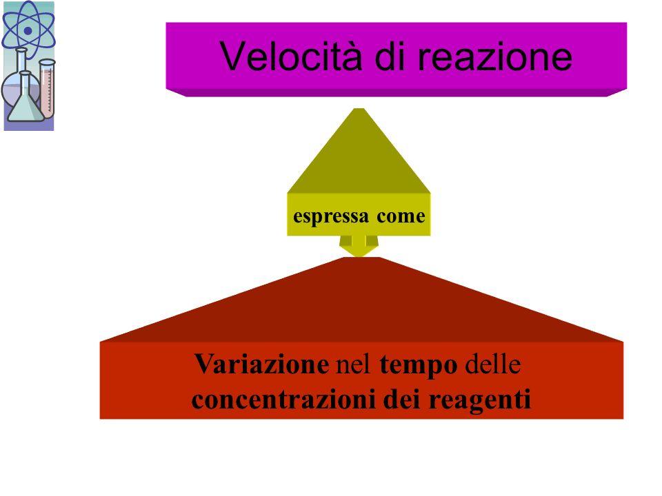 concentrazioni dei reagenti