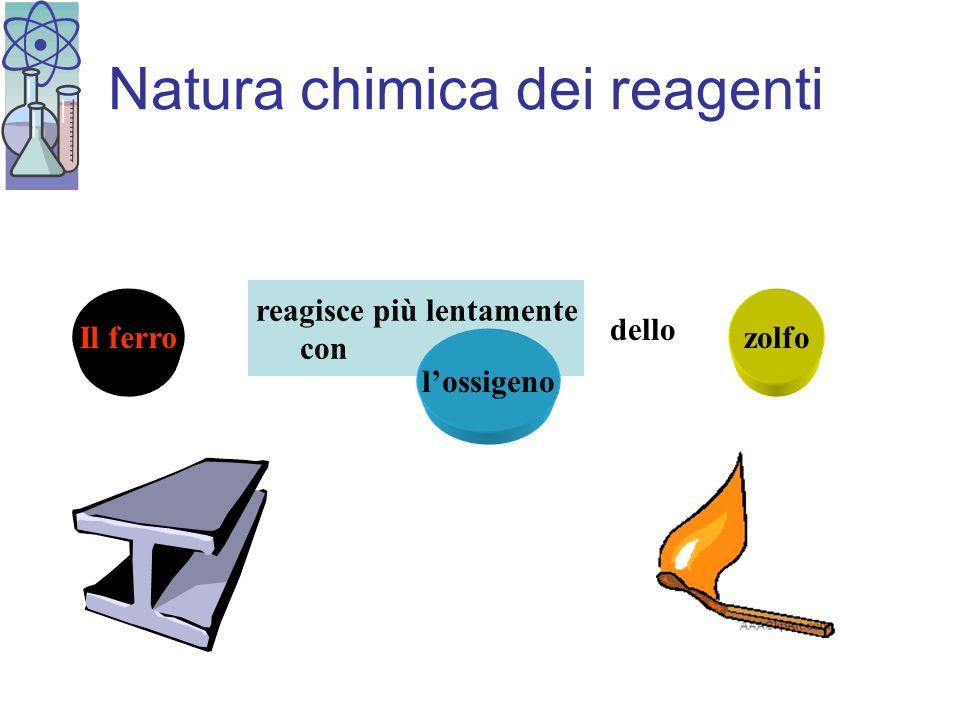Natura chimica dei reagenti