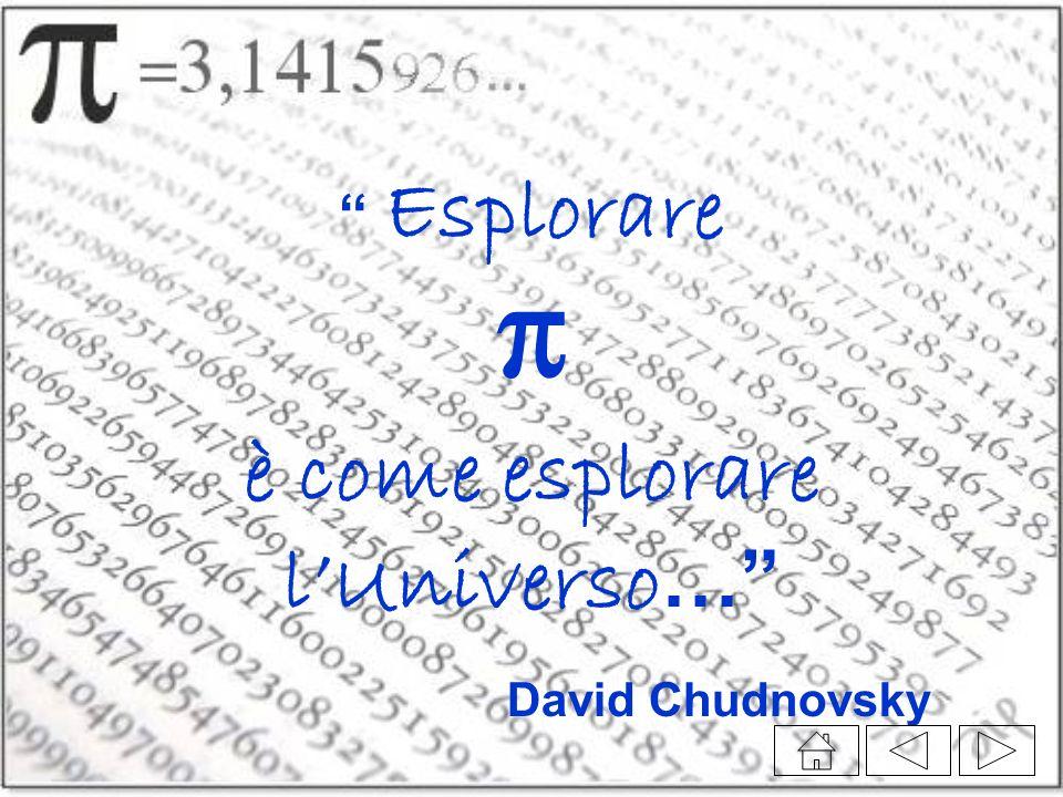 Esplorare π è come esplorare l'Universo… David Chudnovsky