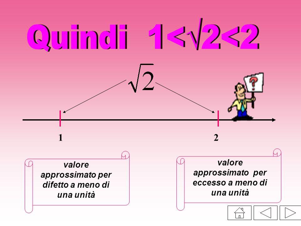 Quindi 1<√2<2 1 2 valore