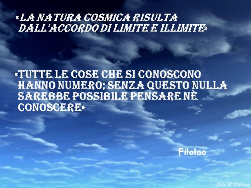 «La natura cosmica risulta dall accordo di Limite e Illimite»