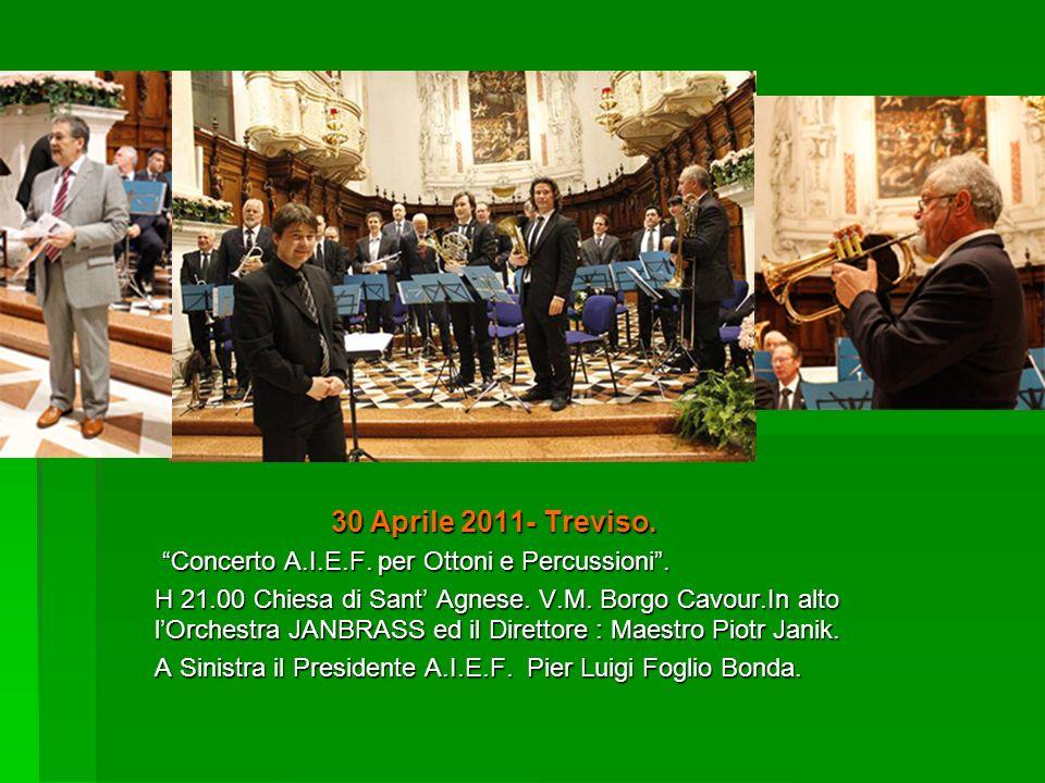 30 Aprile 2011- Treviso. Concerto A.I.E.F. per Ottoni e Percussioni .