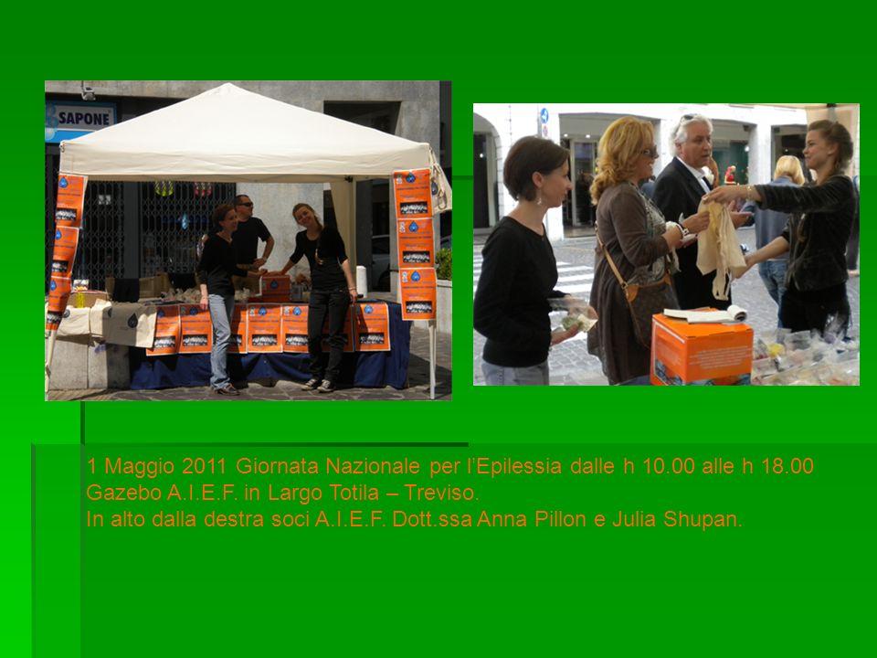 1 Maggio 2011 Giornata Nazionale per l'Epilessia dalle h 10