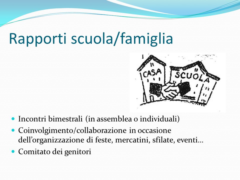 Rapporti scuola/famiglia