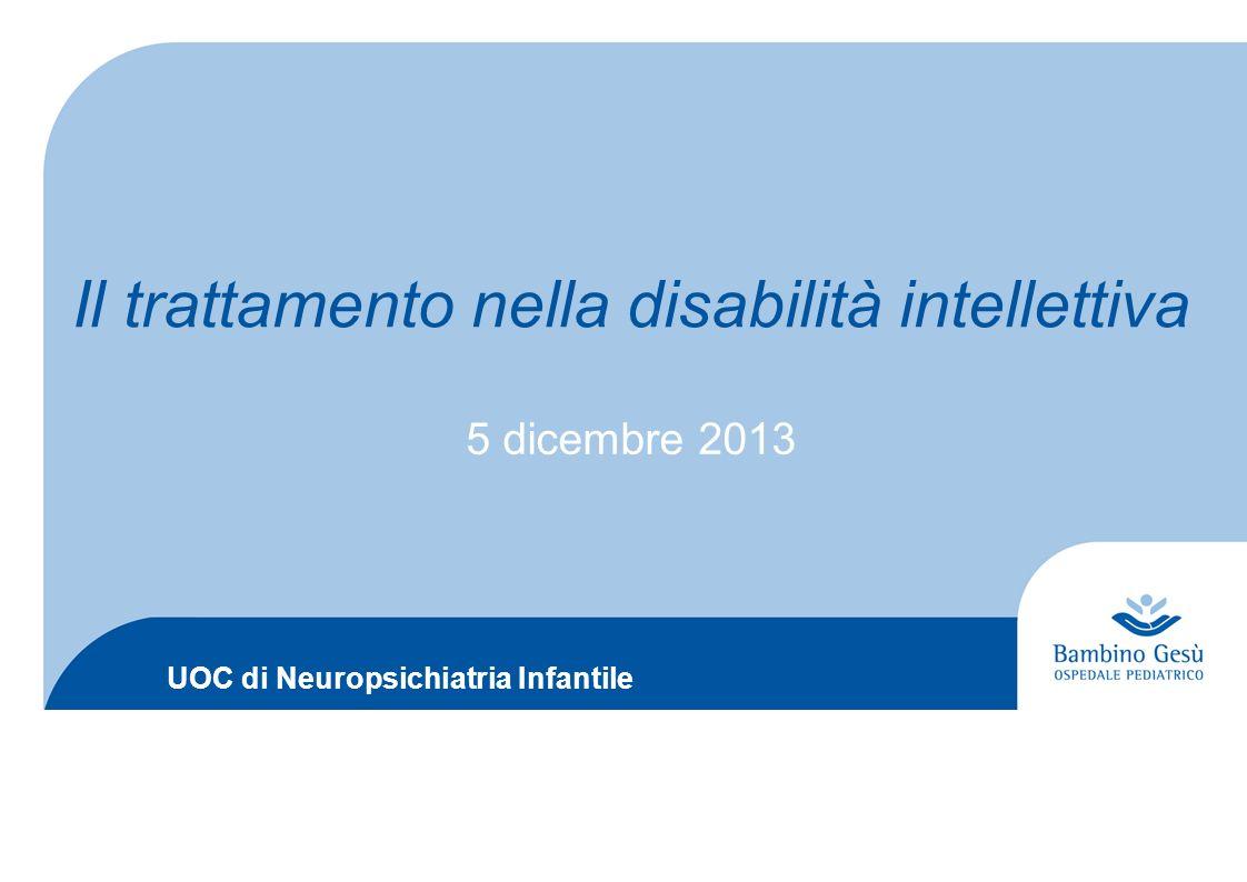 Il trattamento nella disabilità intellettiva
