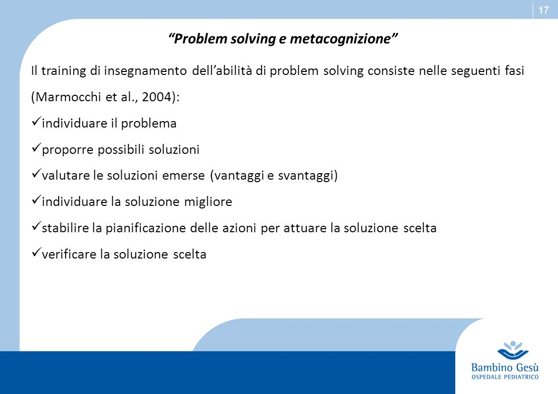 Problem solving e metacognizione