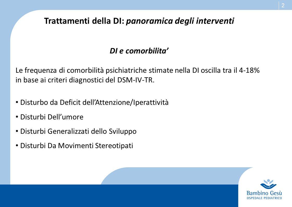 Trattamenti della DI: panoramica degli interventi