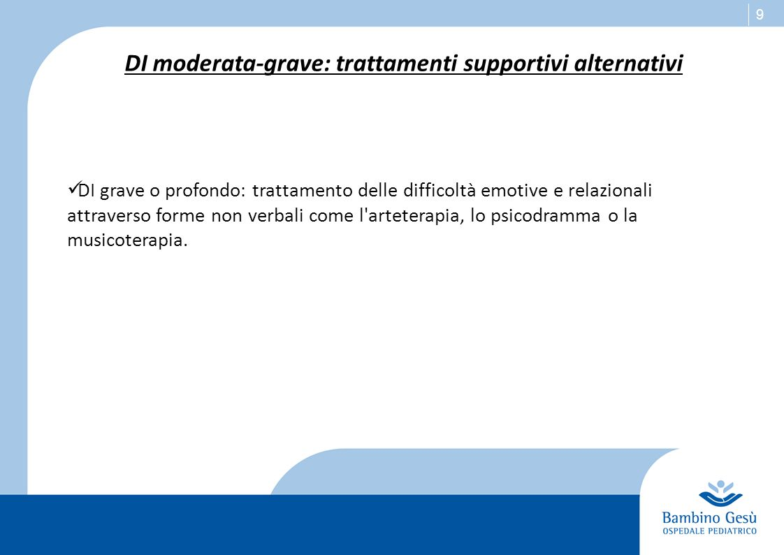 DI moderata-grave: trattamenti supportivi alternativi