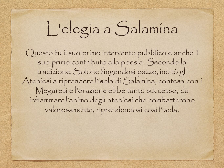 L elegia a Salamina