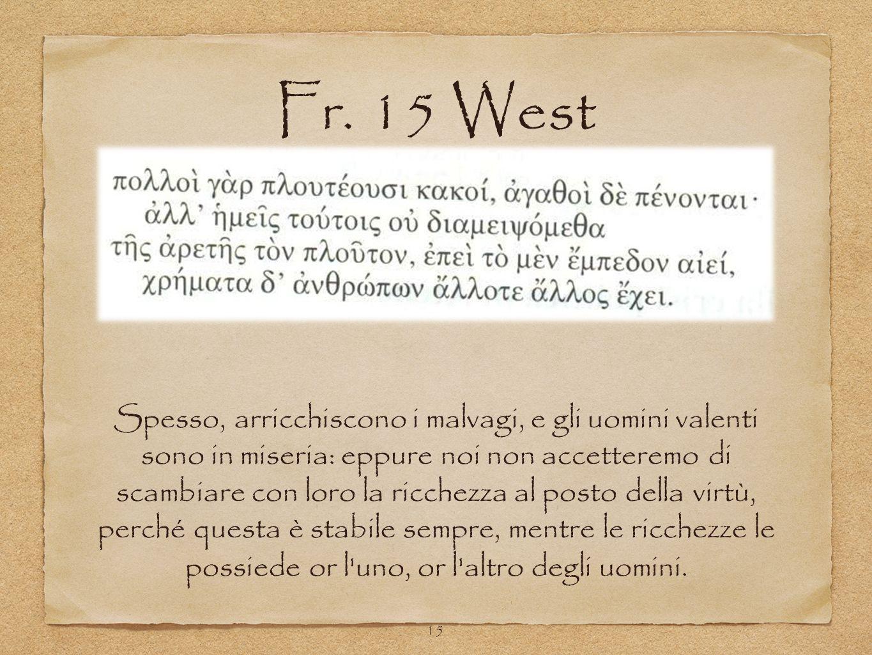 Fr. 15 West