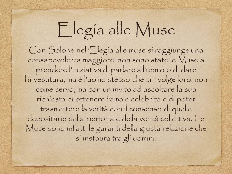 Elegia alle Muse