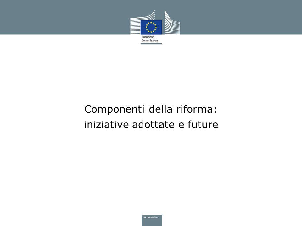 Componenti della riforma: iniziative adottate e future