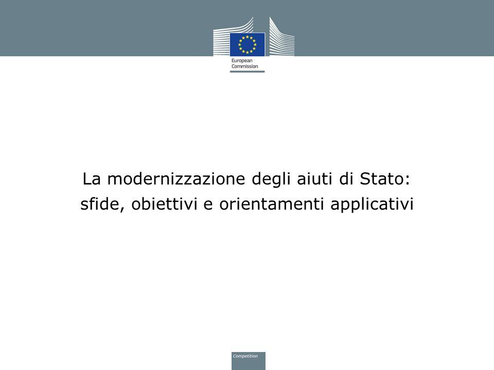 La modernizzazione degli aiuti di Stato: