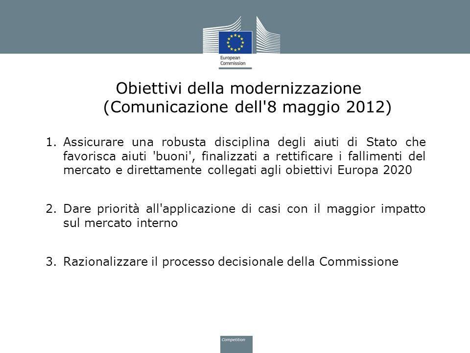 Obiettivi della modernizzazione (Comunicazione dell 8 maggio 2012)