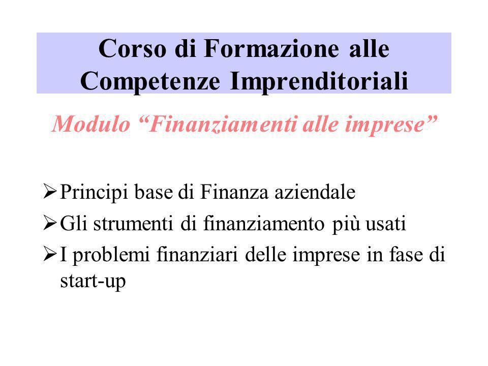 Corso di Formazione alle Competenze Imprenditoriali