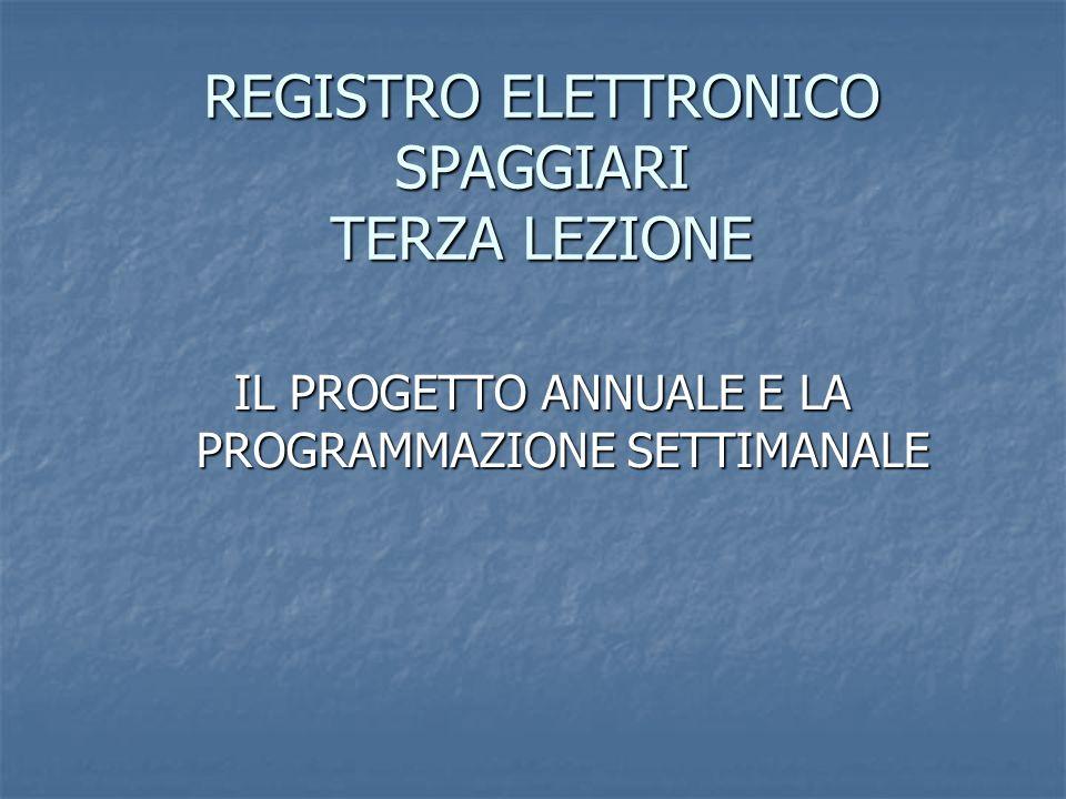 REGISTRO ELETTRONICO SPAGGIARI TERZA LEZIONE