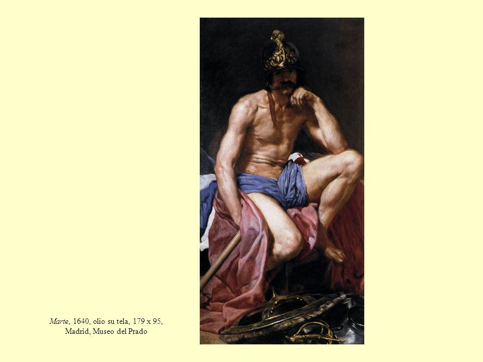 Marte, 1640, olio su tela, 179 x 95, Madrid, Museo del Prado