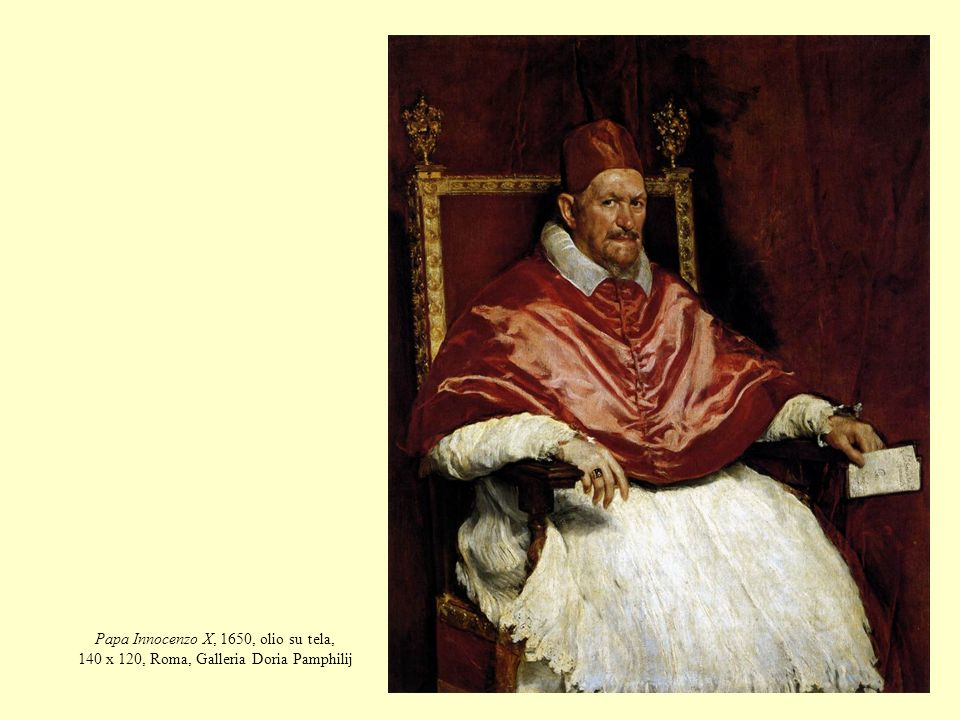 Papa Innocenzo X, 1650, olio su tela, 140 x 120, Roma, Galleria Doria Pamphilij
