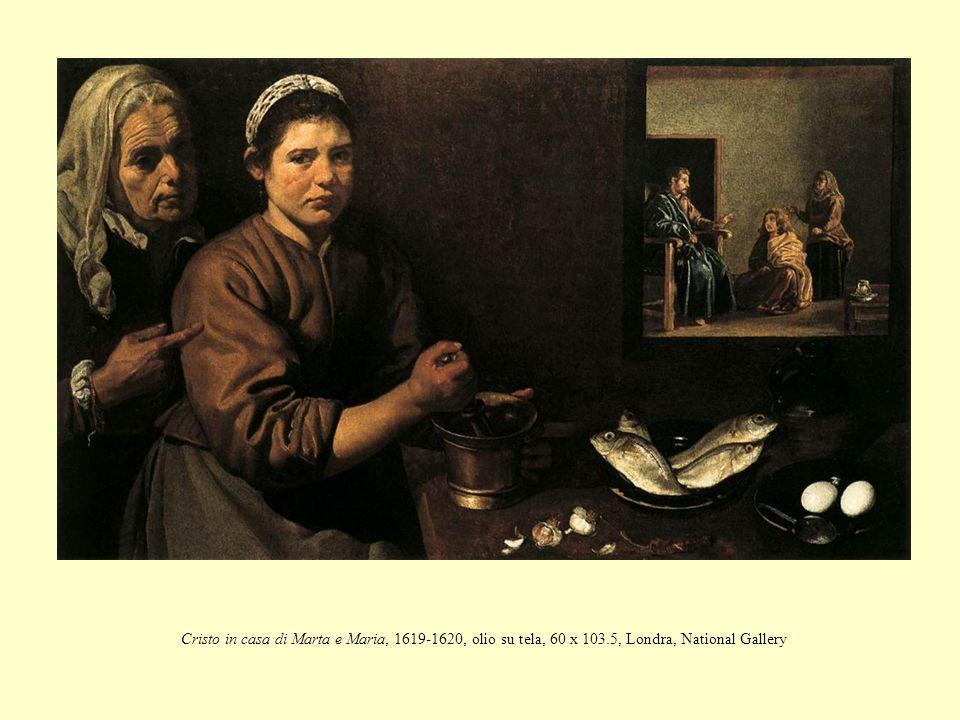 Cristo in casa di Marta e Maria, 1619-1620, olio su tela, 60 x 103
