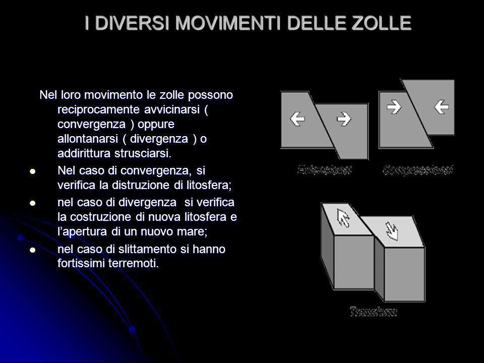 I DIVERSI MOVIMENTI DELLE ZOLLE