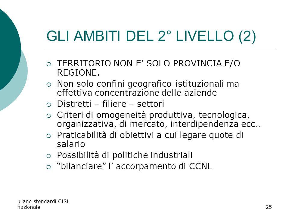 GLI AMBITI DEL 2° LIVELLO (2)