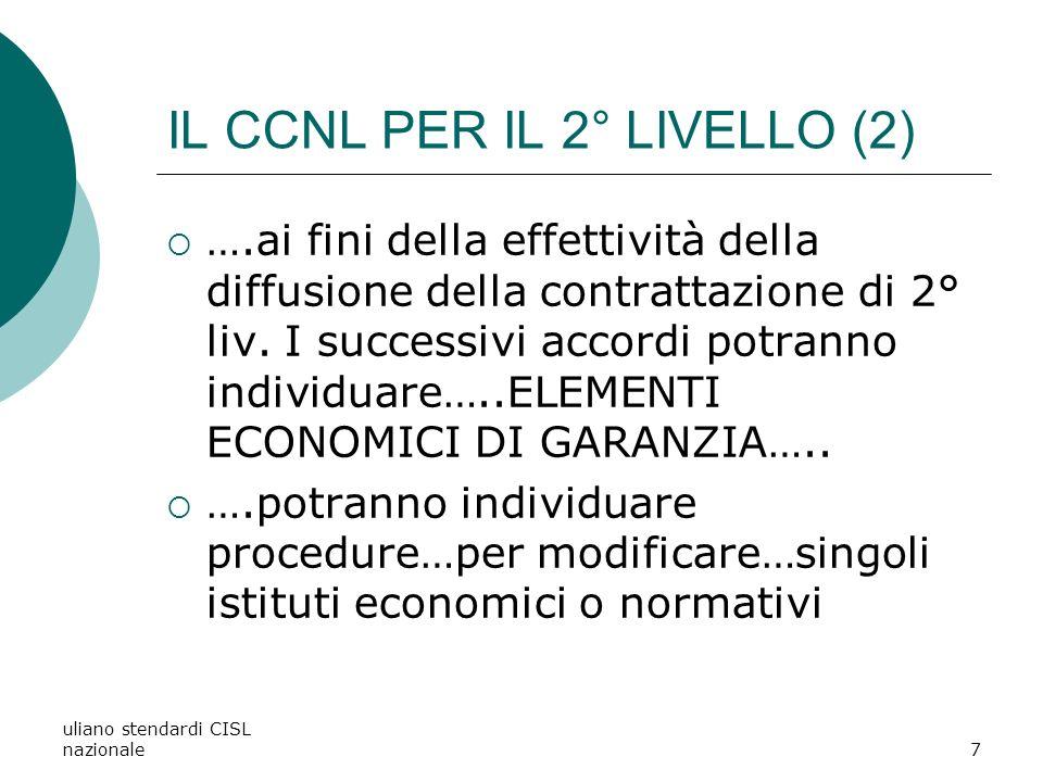 IL CCNL PER IL 2° LIVELLO (2)