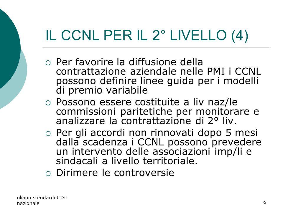 IL CCNL PER IL 2° LIVELLO (4)