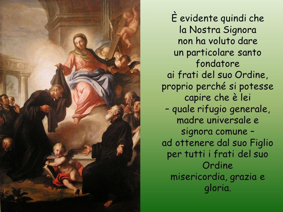 un particolare santo fondatore ai frati del suo Ordine,