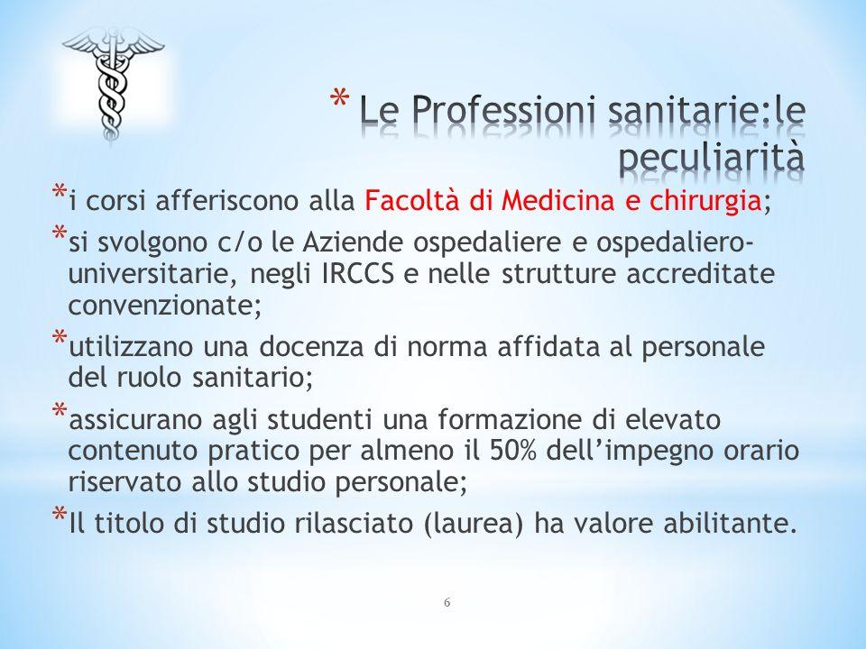 Le Professioni sanitarie:le peculiarità