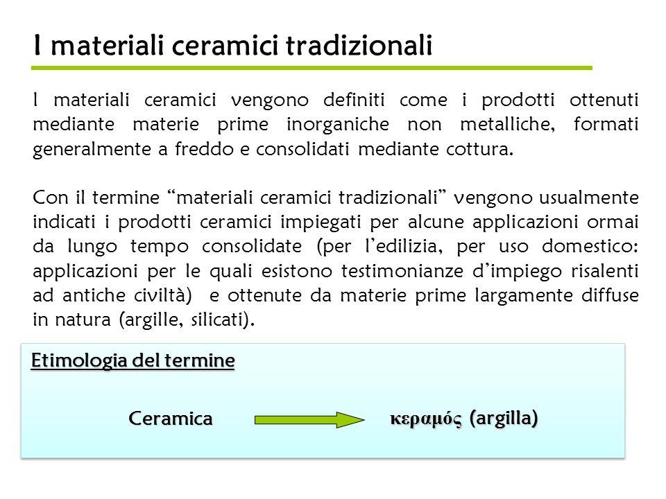 I materiali ceramici tradizionali