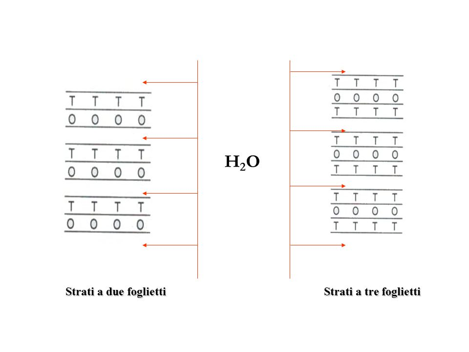 H2O Strati a due foglietti Strati a tre foglietti