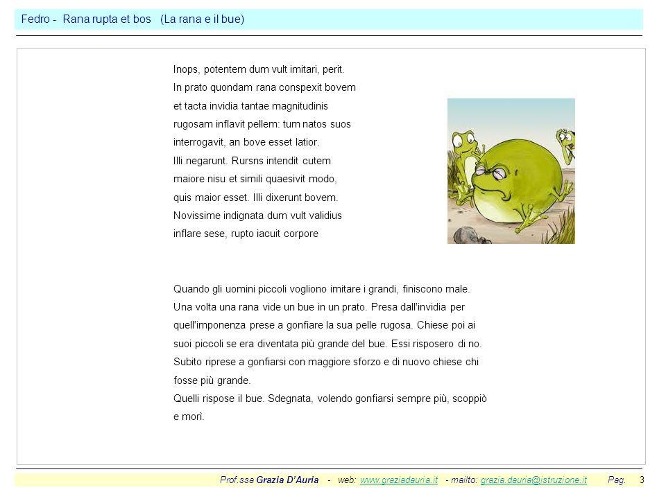 Fedro - Rana rupta et bos (La rana e il bue)